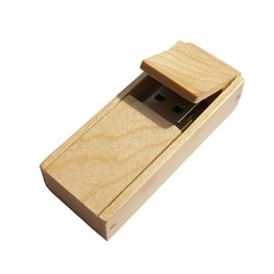 USB Wood Flip Box