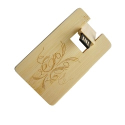 USB Wood Credit Card Rotator